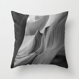 Canyon (Black and White) Throw Pillow