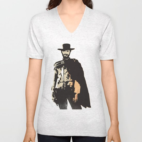 """""""The Man With No Name"""" is a Badass Unisex V-Neck"""