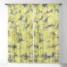 Happy Forsythia Sheer Curtain