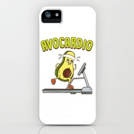 Avocardio Avocado Cardio Pun Running Exercise Gym iPhone Case