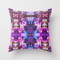 trippy Throw Pillows featuring Trippy by Padi Patt