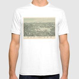 Vintage Pictorial Map of Lake Winnipesaukee (1903) T-shirt