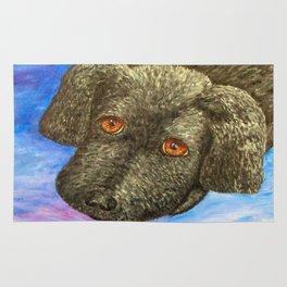 My Eyes Adore You Puppy By Annie Zeno Rug