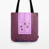 monster inc Tote Bags featuring Monsters Inc. by Matt Bacon