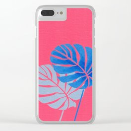 Palm Leaf Shadow Clear iPhone Case