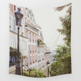 Montmartre Stairs - Paris Travel Photography Wall Tapestry