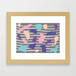 Blob Pattern Framed Art Print