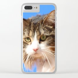Kitty In The Sky Clear iPhone Case