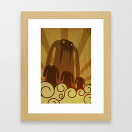 Monsters are coming! Framed Art Print