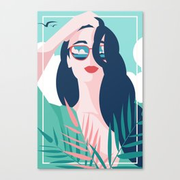 Vibrant Summer Woman Canvas Print
