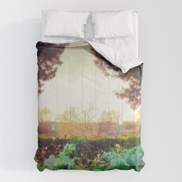 Instagram Summer Garden Irish Landscape Green and Amber Photography Print Comforters