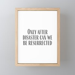After Disaster Framed Mini Art Print