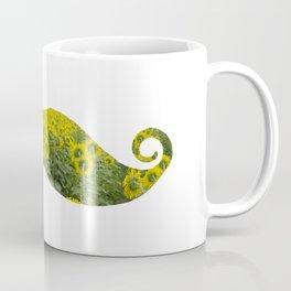 Moustache Sunflowers Coffee Mug