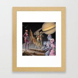 Robot Planet Framed Art Print