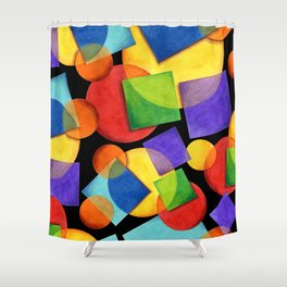Candy Rainbow Geometric Shower Curtain