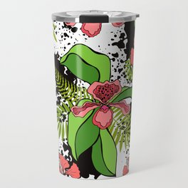 Floral theme. Tropical orchids. Travel Mug