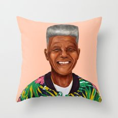 Hipstory - Nelson Mandela Throw Pillow