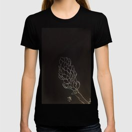 Black and White Alpinia purpurata – Red Ginger Flower, Bogota, Colombia T-shirt