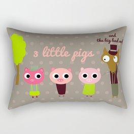 3 Little pigs Rectangular Pillow