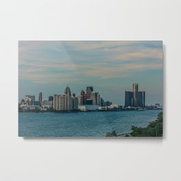 Detroit cityscape Metal Print