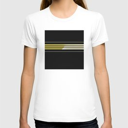 Team Colors 5..Gold.black,white T-shirt