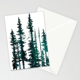 Evergreen tree mug Stationery Cards