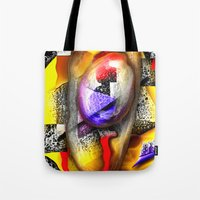 fabric Tote Bags featuring Fabric by John Hansen