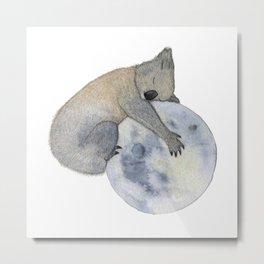 Sleeping Koala Metal Print
