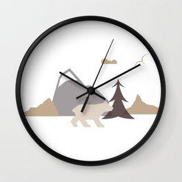 Bear Scene Wall Clock