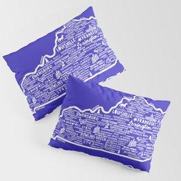 Kentucky Map Pillow Sham