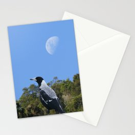 Magpie and moon Stationery Cards