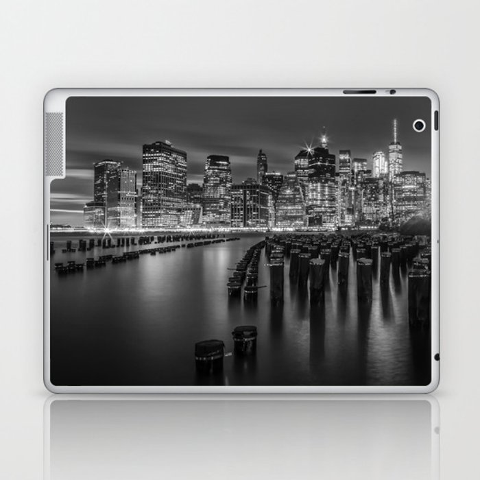 Manhattan Skyline at Sunset | Monochrome Laptop & iPad Skin
