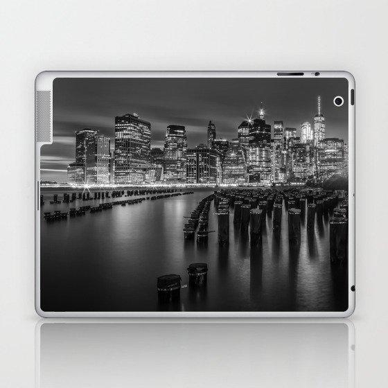 Manhattan Skyline at Sunset | Monochrome Laptop & iPad Skin