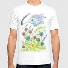 Flower-bird Mens Fitted Tee White SMALL