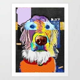 English Golden Retriever Art Print