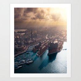 Port of Hamburg, Germany Art Print