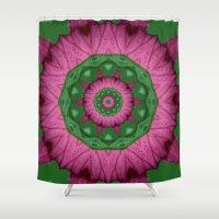 burgundy Shower Curtains featuring Burgundy by IowaShots
