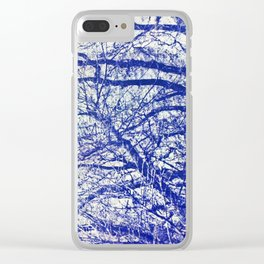 Solitary Tree in the Shadow of a Blue Moon Clear iPhone Case