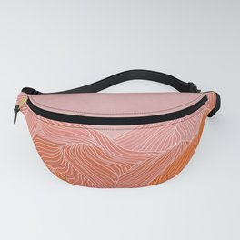 Lines in the mountains - pink II Fanny Pack