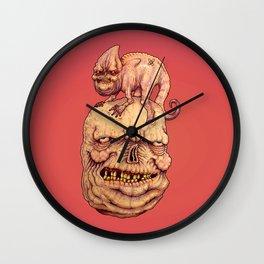 RUDDY  AT THE ZOO Wall Clock