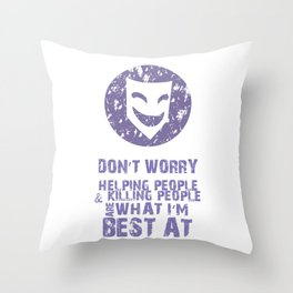 What I'm Best At Throw Pillow
