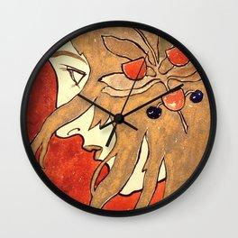 "Koloman (Kolo) Moser ""Profile portrait of a girl"" Wall Clock"