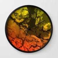 velvet underground Wall Clocks featuring Underground by Andy Readman @ AR2 Studio