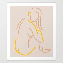 Abstract-Nude-Yellow Art Print