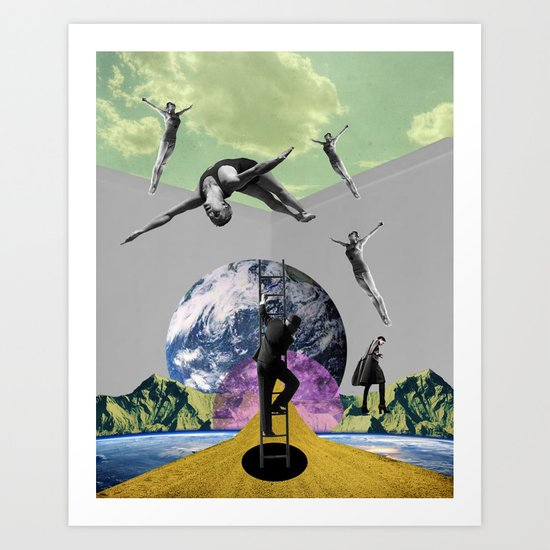 Around the world Art Print