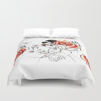 walrus Duvet Covers featuring Mad Walrus by MASALEVICH
