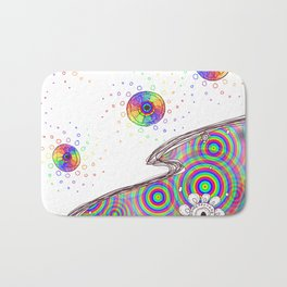 Trippy Color wheel Bath Mat