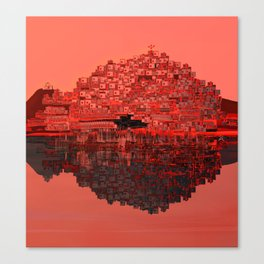 Living The Living Coral Canvas Print