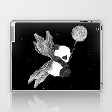 Space Angel Panda Bear - black and white Laptop & iPad Skin