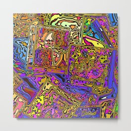 Colorful CD Cases Metal Print